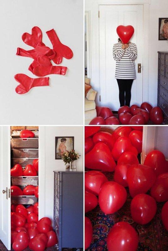 Сюрприз из воздушных шариков