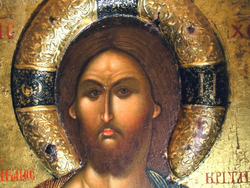 Христос Праведный Судия. Икона. Кипр. Фрагмент.