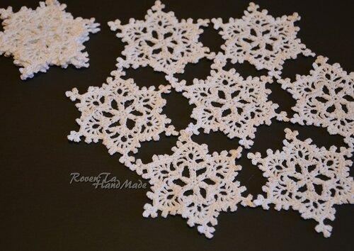 roventa-handmade, вязаная снежинка, снежинка, снежинки крючком
