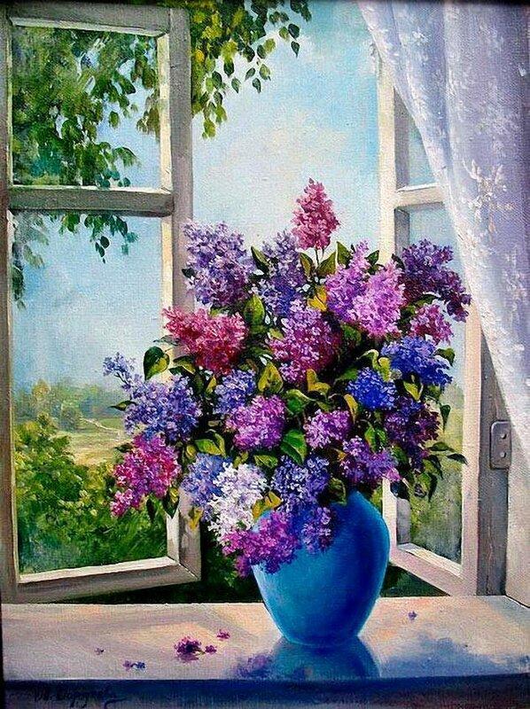 За зимой придет сиреневая весна...Украинская художница Мария Гордеева