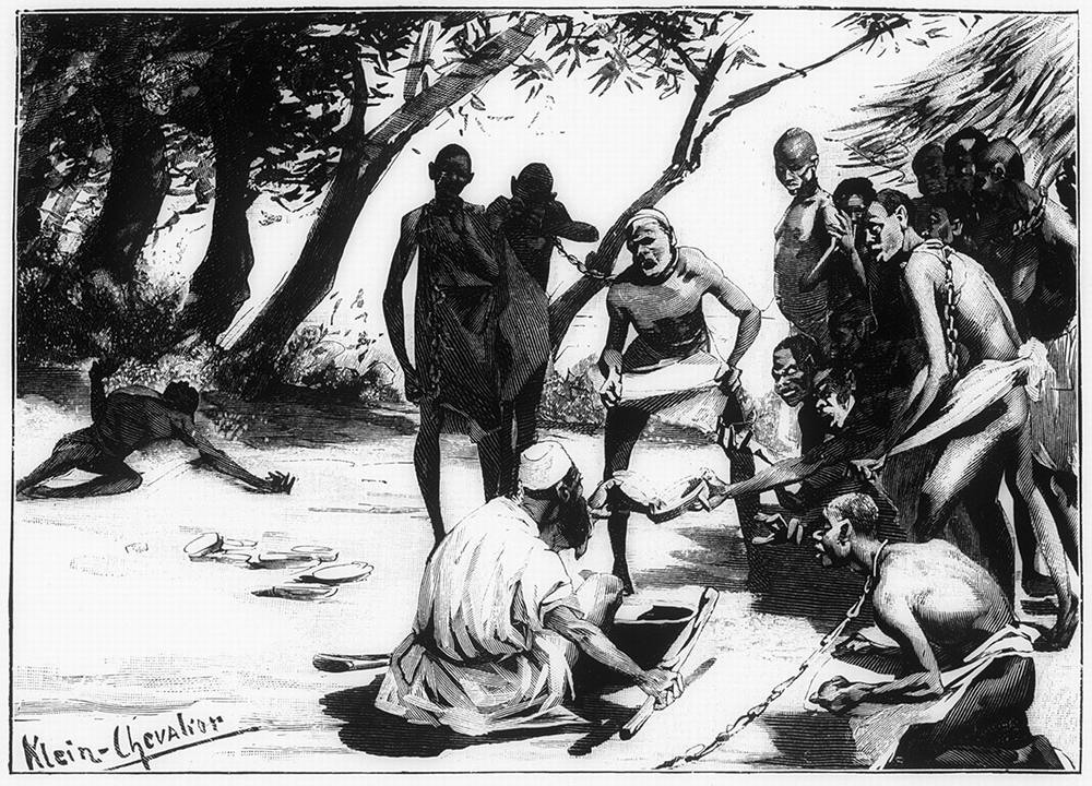 Кормить раба с ног