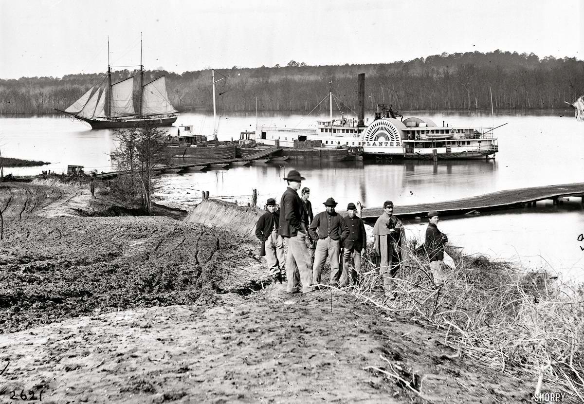 Корабли, речные суда и военные моряки на снимках американских фотографов конца 19 века (8)