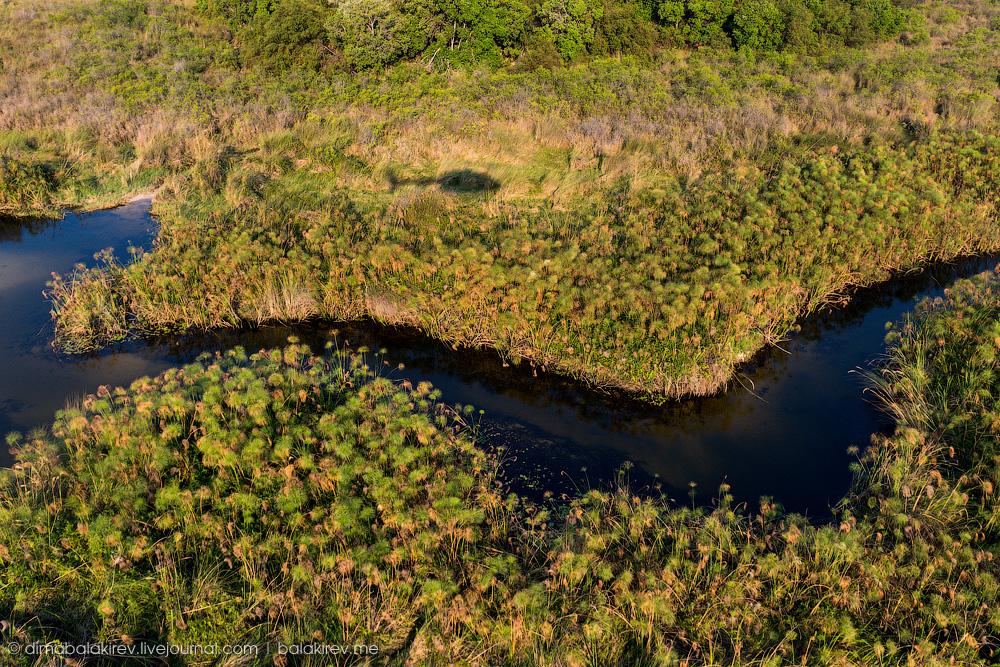 Ботсвана с вертолета
