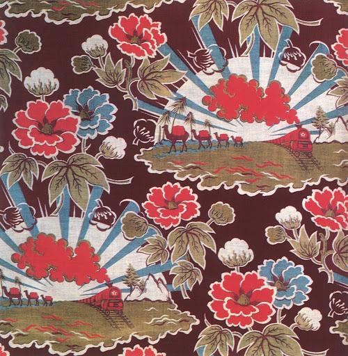 Soviet textile design in celebration of the construction of the Turksib (Turkestan-Siberia Railway), c. 1930.jpg