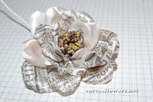Мастер-класс. Роза  с газетным принтом «Lady Print» от Vortex  0_fc127_f98f6d1c_M