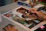 Автограф-сессия Дмитрия Аленичева, Дмитрия Ананко и Егора Титова с болельщиками на Открытие Арене