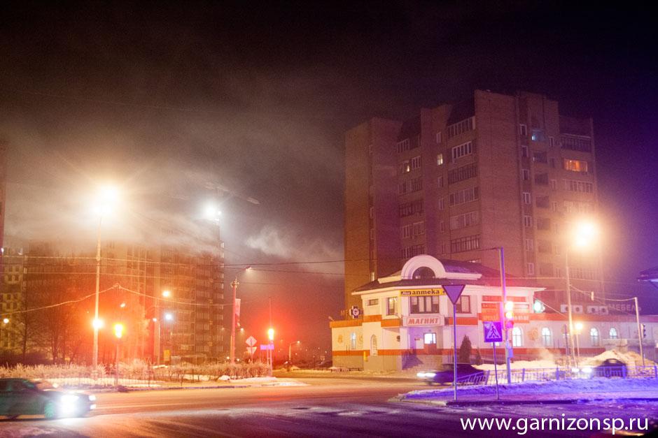 Дымка над Сергиевым Посадом - печи, пар и мороз