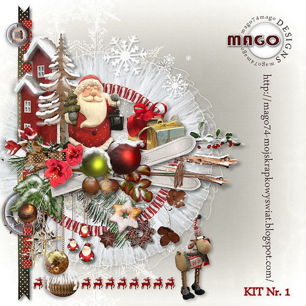 Скрап-набор Merry Christmas от Mago