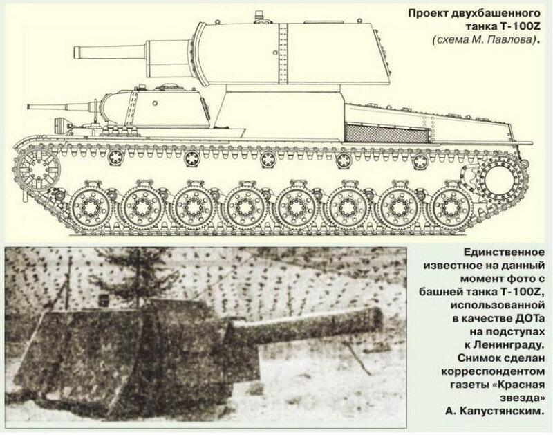ДОТ с башней танка Т-100Z