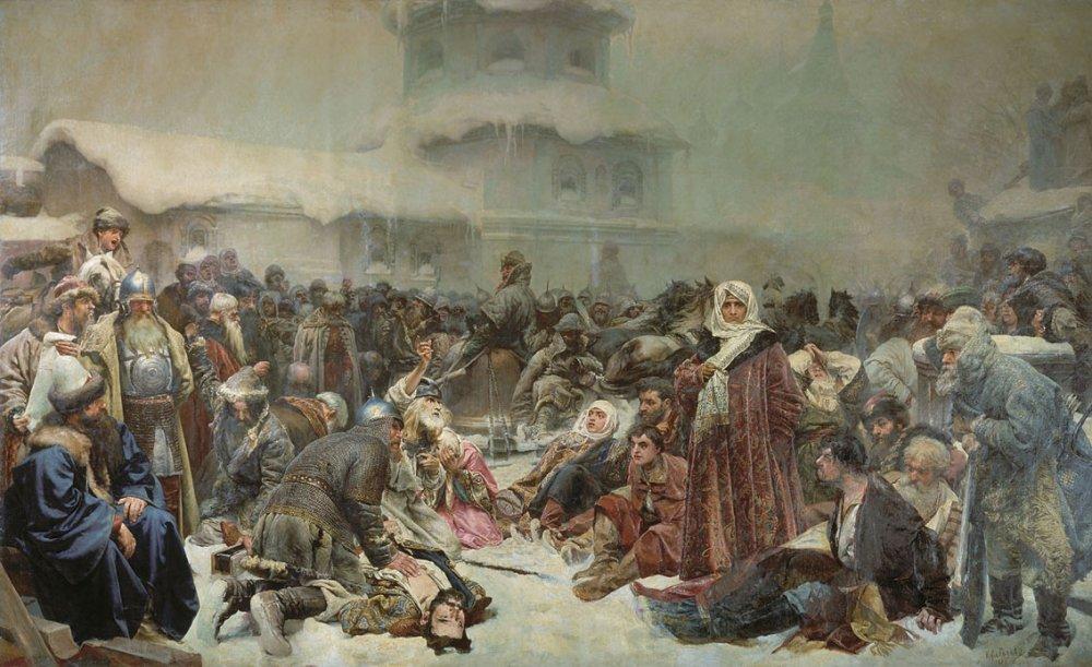 Клавдий Лебедев - «Уничтожение новгородского веча»