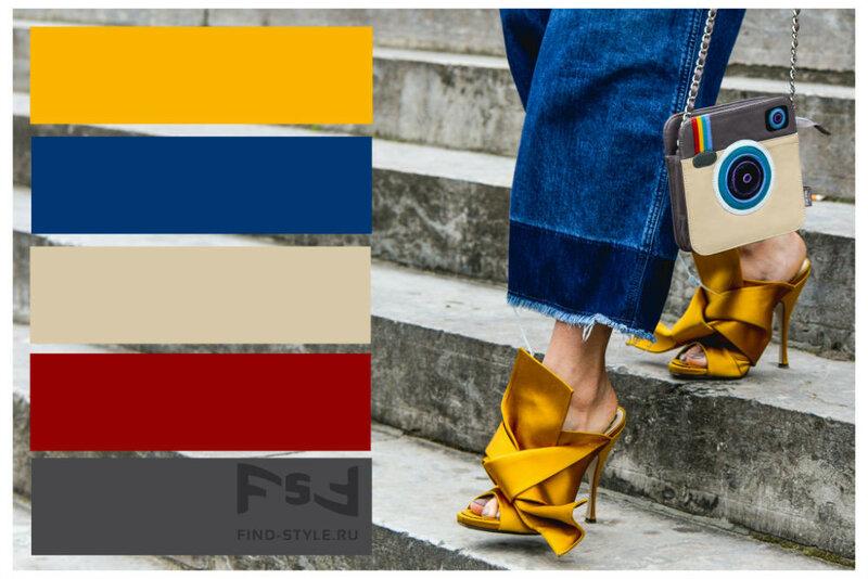 Топ 5 модных сочетаний цветов в одежде 2015, как сочетать цвета в одежде, с чем сочетается синий цвет, с чем сочетается оранжевый цвет