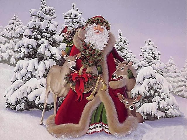 Санта-Клаус Santa Claus дед мороз новый год откртыки арт