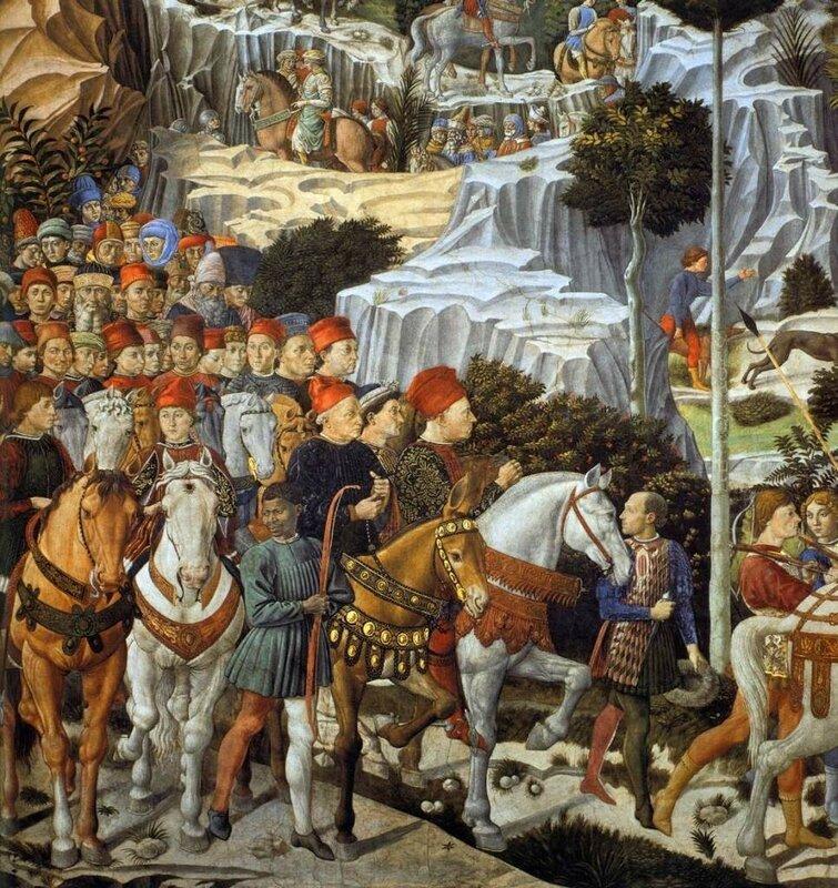 Беноццо Гоццоли. Поклонение волхвов-царей, 1459