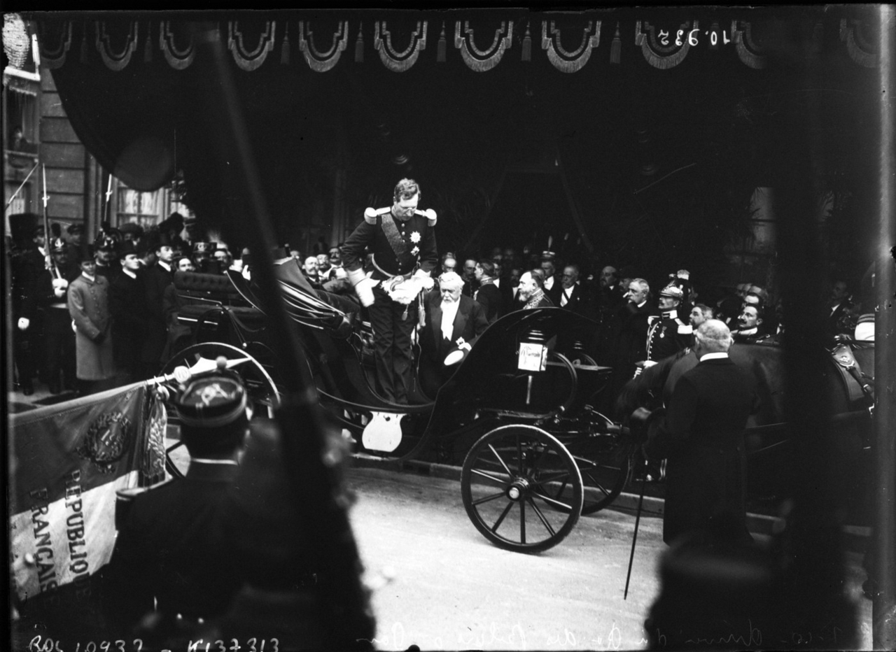 Прибытие короля бельгийцев Альберта I в Париж