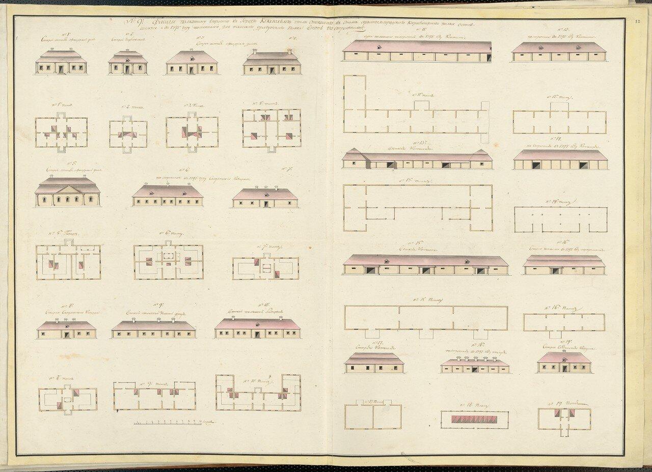 12. План города Кексгольм. Планы зданий. Часть 2. 1802