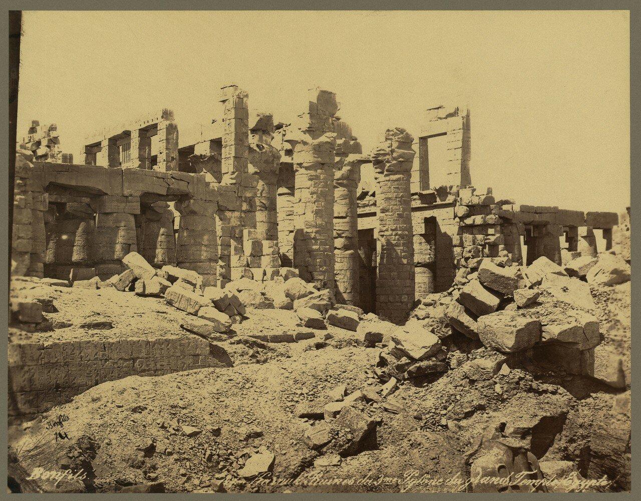 Карнак (Фивы). Руины 3 пилона Великого Храма. 1867