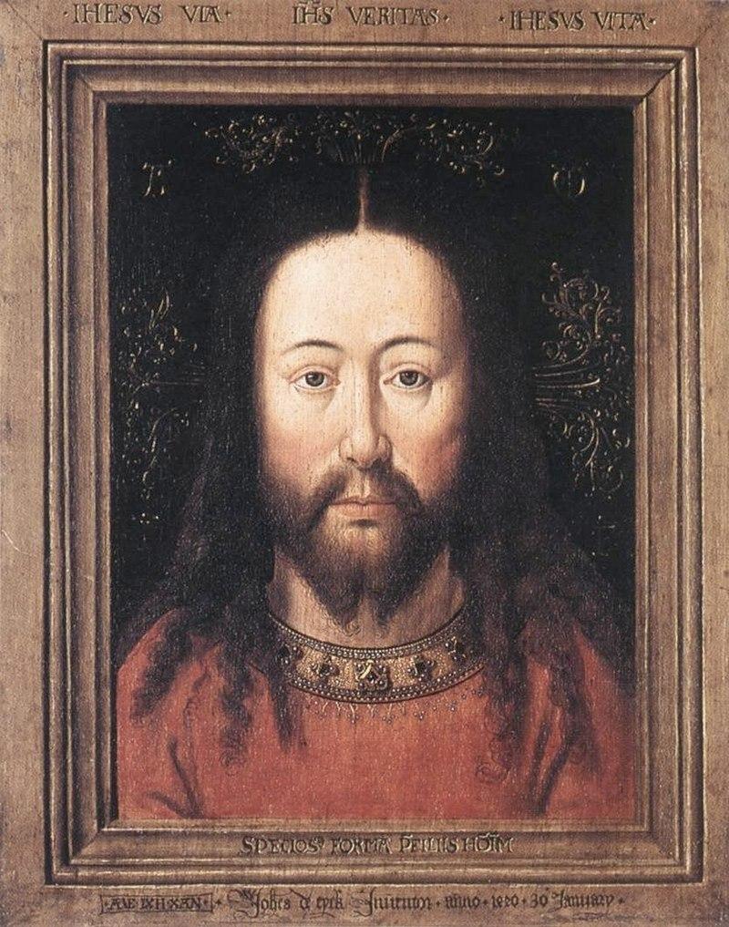 """Ян ван Эйк. """"Портрет Христа"""