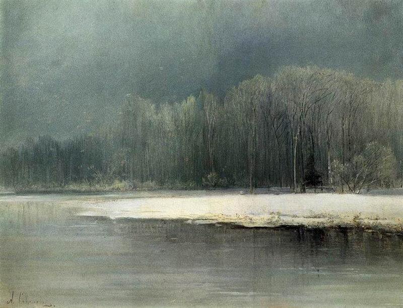 А.К. Саврасов. Зимний пейзаж. Иней. 1870-е годы