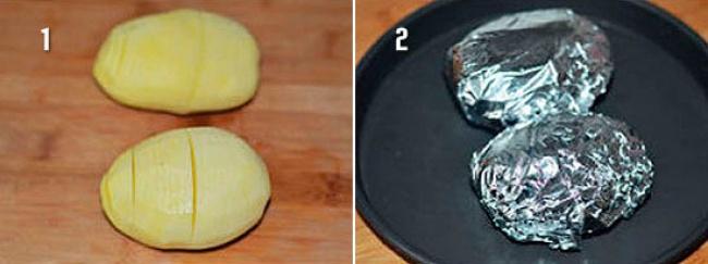 Супер легкий рецепт румяной картошки-гармошки (4 фото)