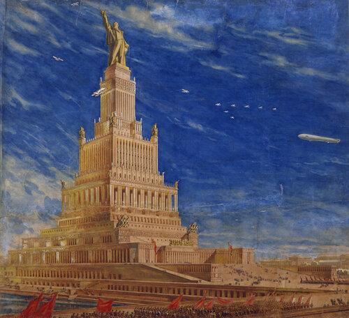 Борис Иофан, Владимир Щуко, Владимир Гельфрейх. Проект Дворца Советов. Вариант 1937—1940 гг.