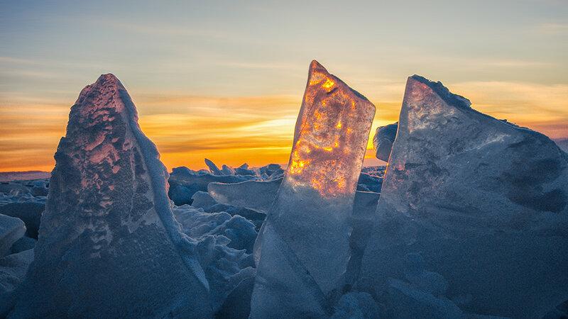 Солнце сквозь лёд