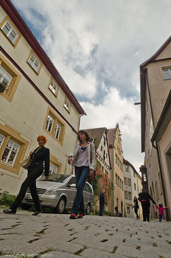 15. На улицах Ротенбурга-на-Таубере... Поездка на выходные из Франкфурта. Снято на Samyang 14/2.8... 1/250 сек; 0 eV; f/8; 14 мм; 100.