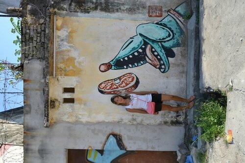 Уличная графика в Пенанге