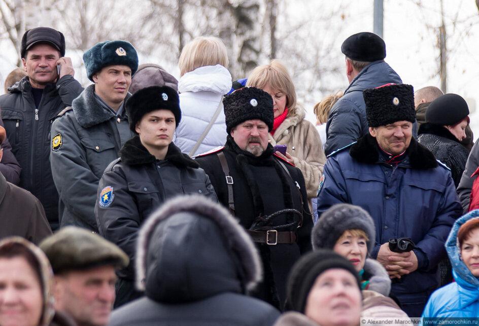 Казачий патруль на праздновании Масленицы в Саранске
