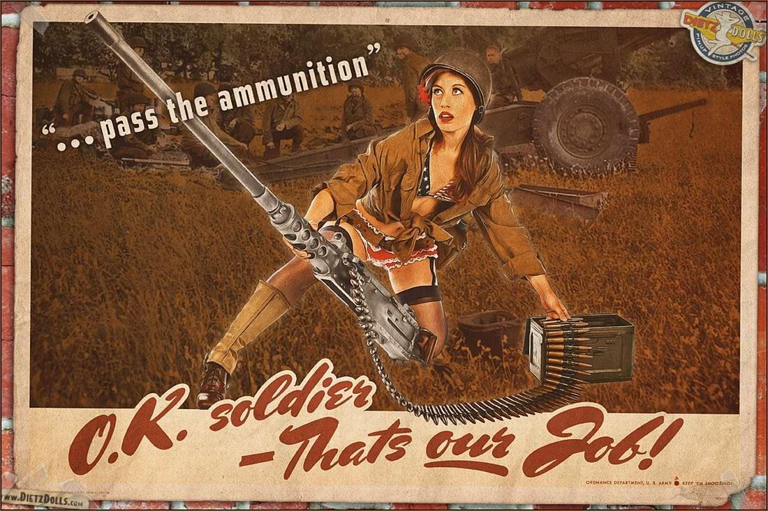 Армейский pin-up в стиле 1940-х годов от американского художника Britt Dietz (1)