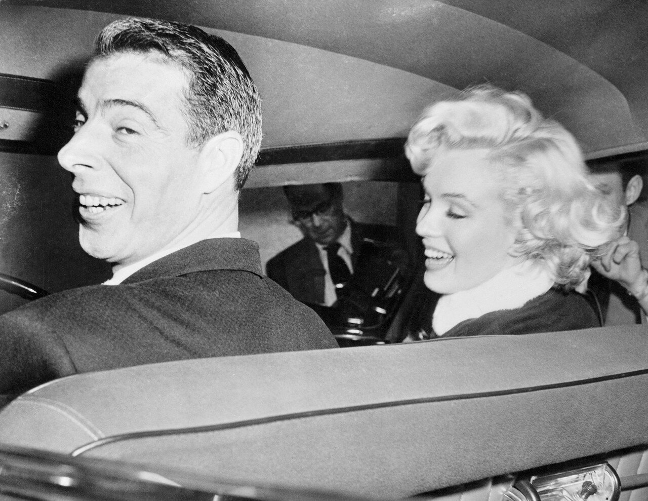 Joe DiMaggio and his Bride Marilyn Monroe