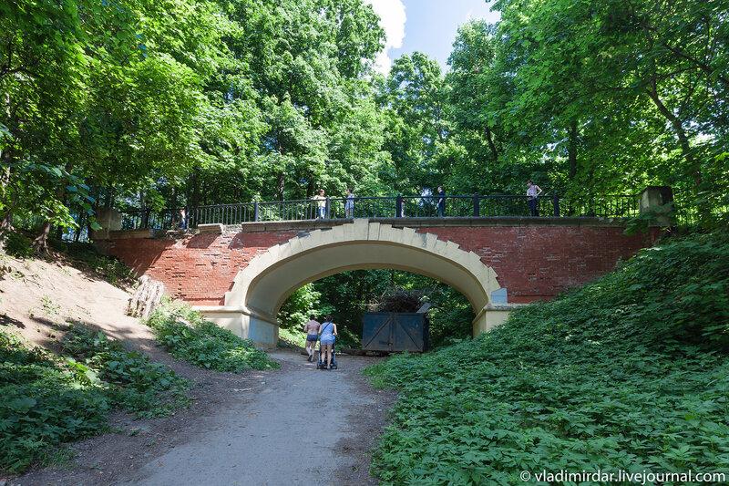 Арочный мост в усадьбе Суханово