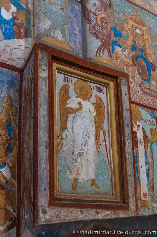 Настенные росписи Успенского собора. Ростовский кремль.