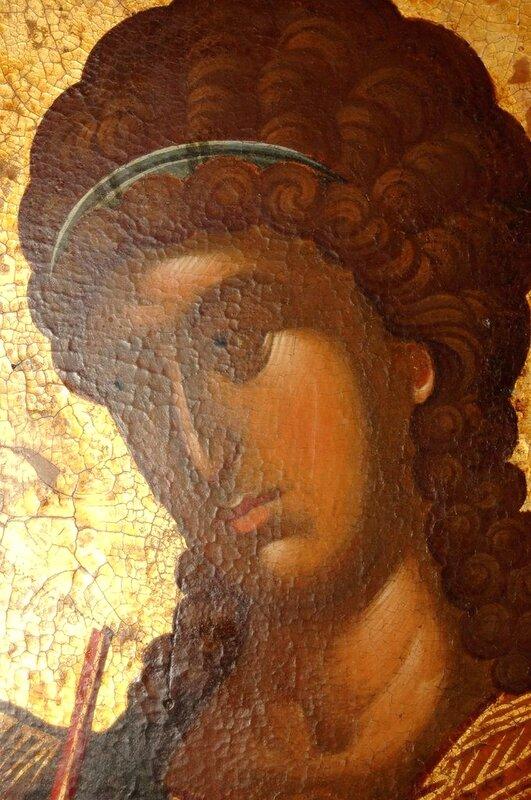 Архангел Гавриил. Фрагмент иконы из Хиландарского деисусного чина. 1360-е годы. Монастырь Хиландар на Афоне.