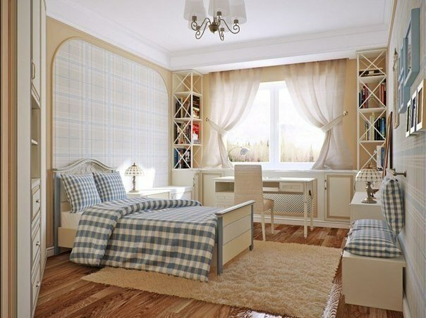 Интерьер спальни, легкий и гармоничный