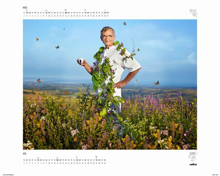«Вдохновленные Повара» - 22-ой календарь от Lavazza. Фотограф ©Martin Schoeller
