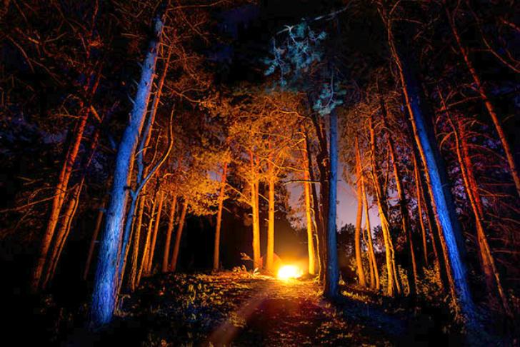 4. Считалось, что в эту ночь прилетают злые духи и феи, и чтобы их отогнать, люди разводили гигантск