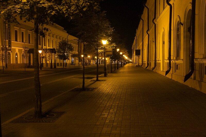 Кремлевская улица вечером, Казань