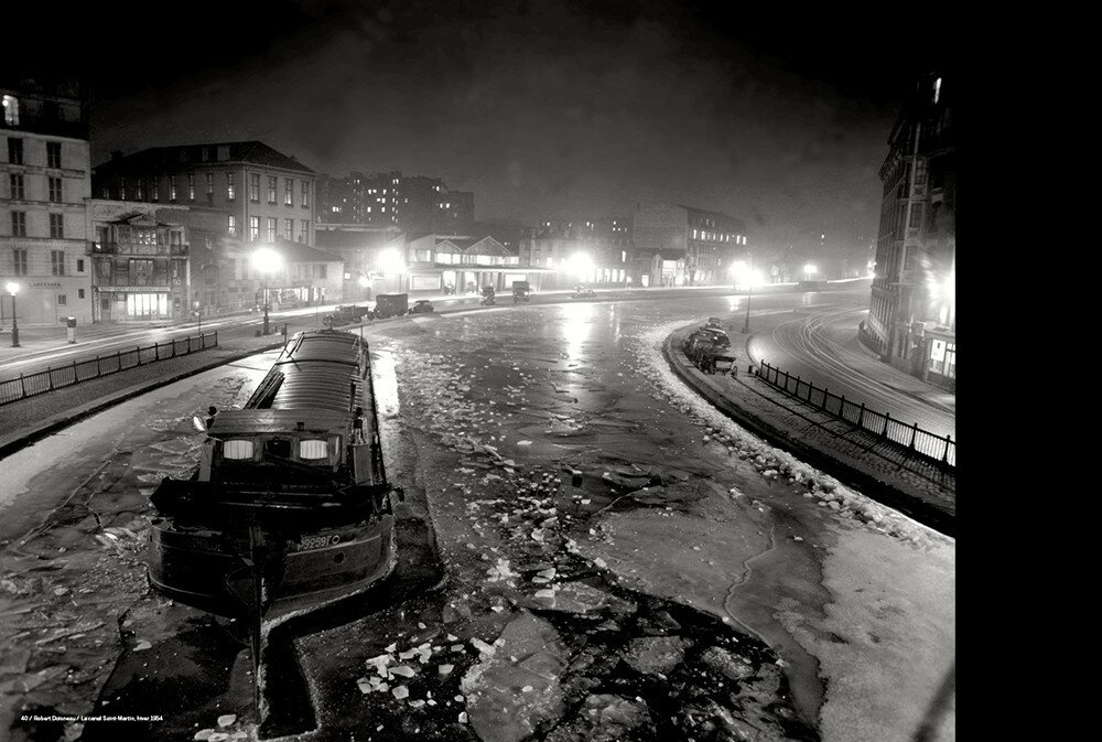 1954. Канал Сен-Мартен зимой