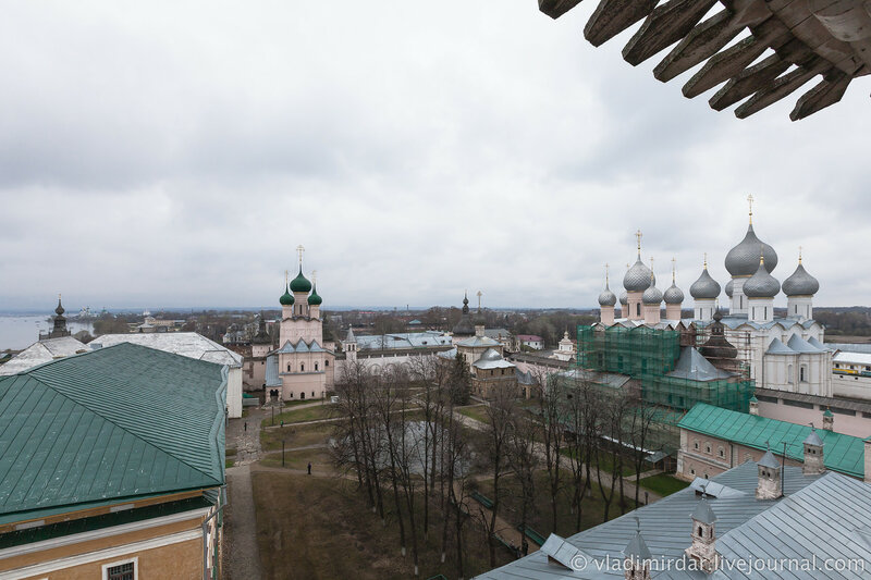 Ростовский кремль. Вид со смотровой площадки.