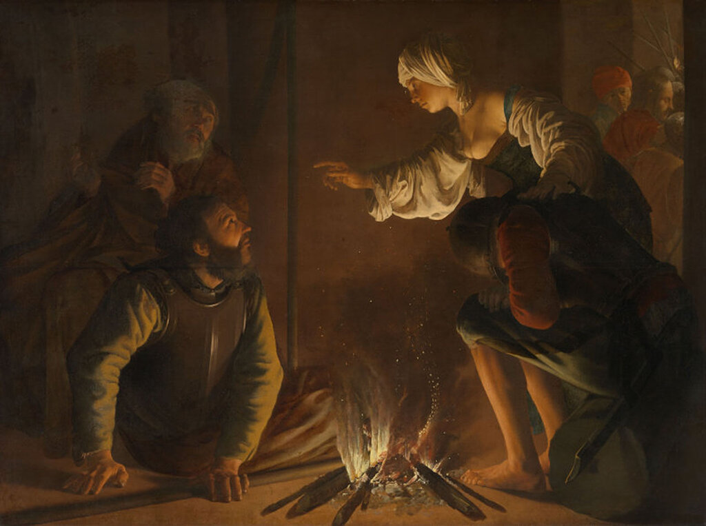 The Denial of St Peter (1626-1629) Hendrick ter Brugghen (1588-1629
