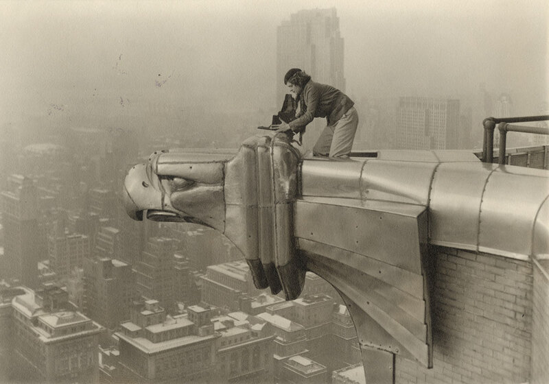 Margaret Bourke-White climbing on the Chrysler Building to take a photograph in 1934a.jpg