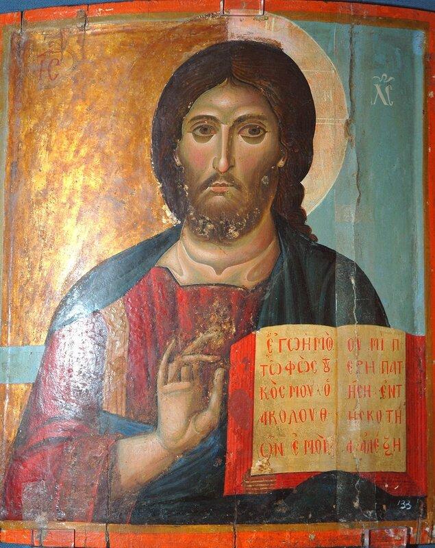 Христос Пантократор. Византийская икона в монастыре Св. Екатерины на Синае.