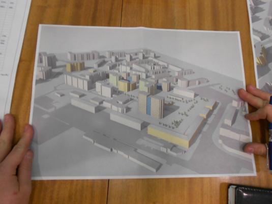 Эскиз застройки жилого квартала