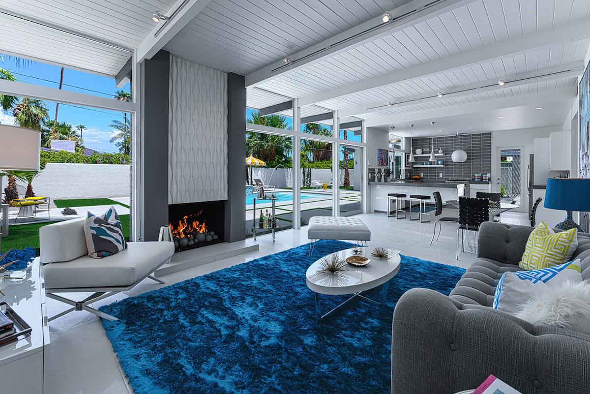 H3K Design, особняки Палм Спрингс, дома в Палм Спрингс, особняки Калифорнии, частные дома в США, одноэтажный частный дом фото, дом с видом на горы