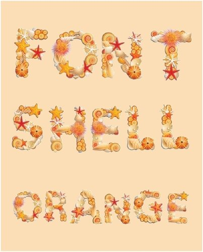Алфавит «Ракушки оранжевые»