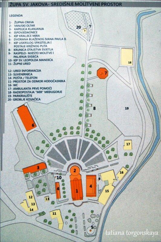 Карта церковной территории