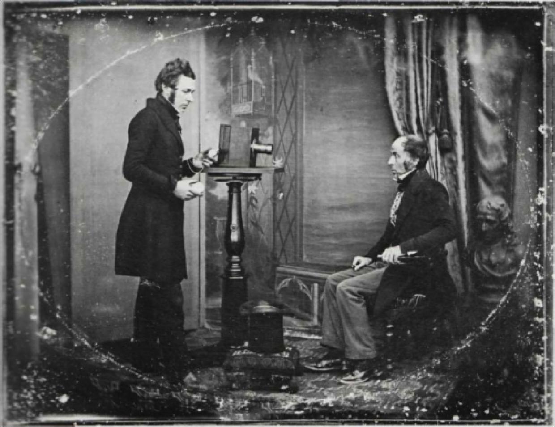 1843. Создание портрета в студии Ричарда Берда