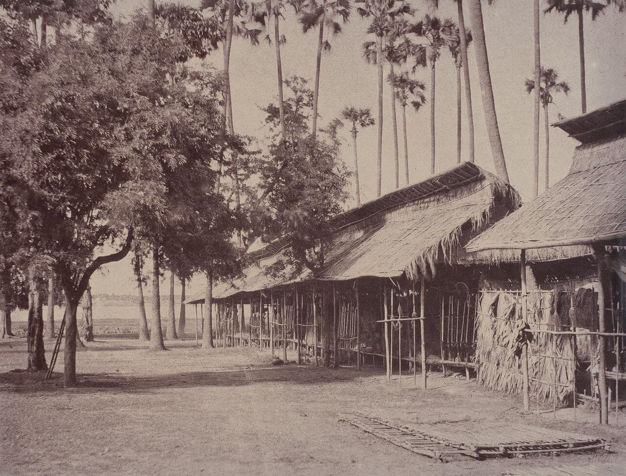 Амерапура. Бараки бирманских гвардейцев