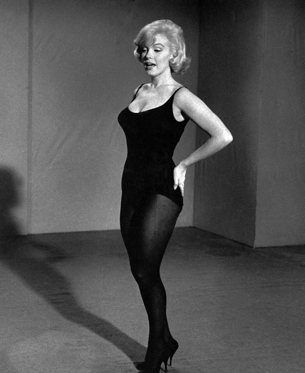 Marilyn Monroe Posing with Her Hands on Her Hips