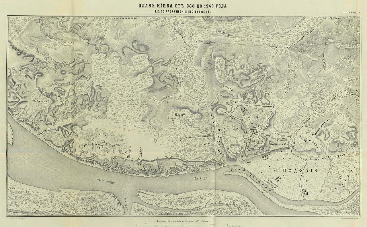 988-1240. План Киева
